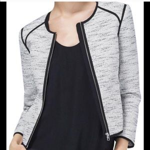 Wilfred Chanel-esque black and white jacket